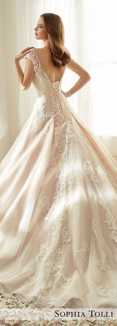 Plunging Neckline Wedding Dress by Sophia Tolli Spring 2017