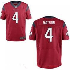 2017 NFL Draft Houston Texans #4 Deshaun Watson Red Team Color Stitched NFL Nike Elite Jersey