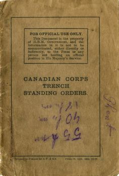 How to survive in the trenches | Wartime Canada link to pdf on page
