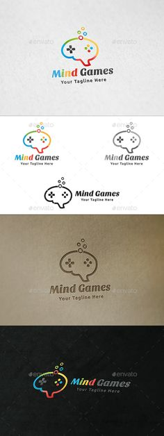 Mind Games Logo — Vector EPS #digital #playstation • Available here → https://graphicriver.net/item/mind-games-logo/12809053?ref=pxcr