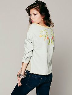 chambray pullov, boutiques, style, aw fashion, peopl embroid, wear, people, freepeopl