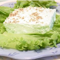 Furr's Homemade Light Green Jell-O Salad | This Jell-O dessert recipe makes for a great dessert or side dish!