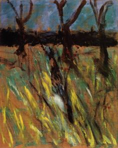 Francis Bacon: Study for landscape after Van Gogh...the dark shadows, the yellow grasses, the night sky and a sense that something was burning.
