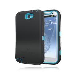 ZeroLemon Samsung Galaxy Note 2 ZeroShock Rugged Sky Blue / Viper Black + Holster/KickStand for Original Slim & 9300mAh Extended Battery Case ***Battery NOT Included***(Compatible with Samsung Galaxy Note II GT-N7100, T-Mobile Galaxy Note II SGH-T889, Sprint Galaxy Note 2 SPH-L900, At&t Samsung Galaxy Note II SGH-i317, and Verizon SCH-i605) Note 2-R-Blue/Black