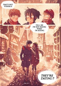 """""""""""How come she married him?"""" Harry asked miserably. """"She hated him!"""" """"Nah, she didn't,"""" said Sirius. """"She started going out with him in seventh year,"""" said Lupin. """"Once James had deflated his head a bit,"""" said Sirius. """"And stopped hexing people just..."""