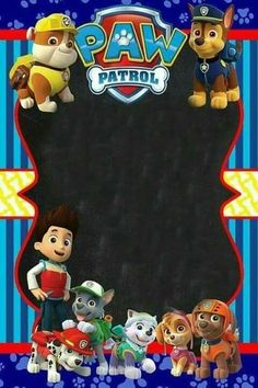 Paw Patrol Party Decorations, Birthday Decorations, 3rd Birthday Parties, 4th Birthday, Paw Patrol Party Invitations, Superhero Invitations, Paw Patrol Birthday Theme, Crafts, Ideas Party