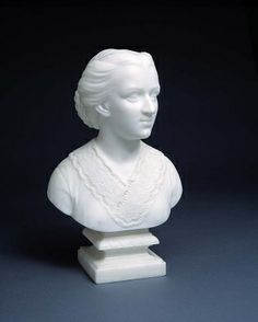 Anna Quincy Waterston, ca. 1866, Edmonia Lewis, carved marble, 11 7/8 x 7 1/4 x 5 1/8 in. (30.2 x 18.5 x 12.9 cm.), Smithsonian American Art Museum Gift of Dr. Richard Frates, 1983.95.181