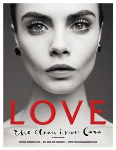 Love Magazine s/s 2013, teaser cover.