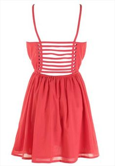 Red Strappy Back Dress