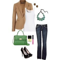 Office Casual, created by lovieduck82 on Polyvore