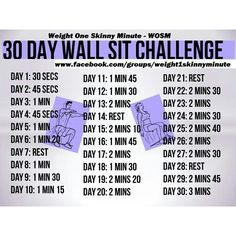 30 day wall sit challenge