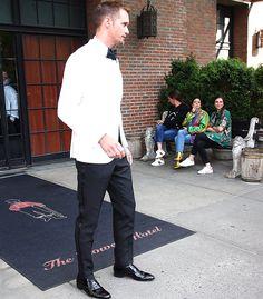 "Photo set II: Alex at the 2017 MET Gala (May 1, 2017, NYC). Sources: Originals via: 1. evamv01 instagram: ""The one and only #sexy vampire #alexander skarsgard! #eric northman #true blood #tarzan.""..."
