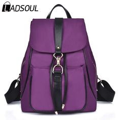 cf33e4f93200 This is great forLadsoul 2016 Fashion Nylon Women Backpack Travel Backpack  High Quality