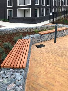 Factory Furniture: Gabion wall benches 6 of 6