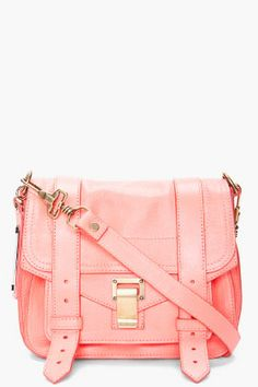 PS1 NEON CORAL BAG