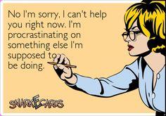 I'm procrastinating on something else..