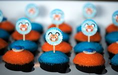 Cute tiger cupcakes