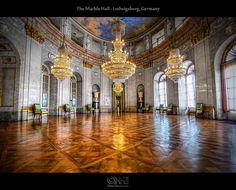The Marble Hall - Ludwigsburg Palace,  #Baden Wurttemberg #Germany (HDR) by farbspiel, Flickr