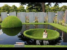 Pond garden. How interesting.