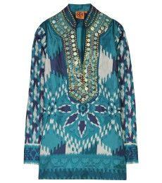 Iveta printed silk tunic