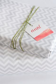 Chevron wrapping paper!