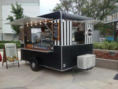 New Food Truck Interior Design Ideas Food Cart Design, Food Truck Design, Foodtrucks Ideas, Food Truck Interior, Coffee Food Truck, Mobile Food Cart, Mobile Coffee Shop, Coffee Trailer, Food Truck Business