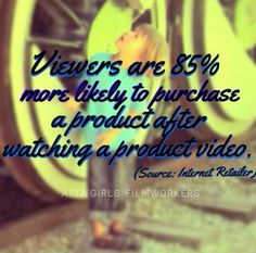 Viewers are 85% more likely to purchase a product after watching a product video.