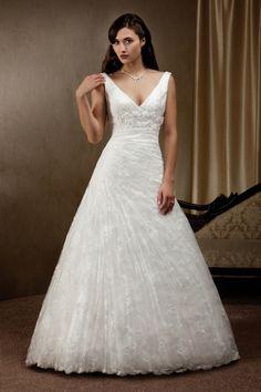 Tulle Satin A-line Wedding Dress