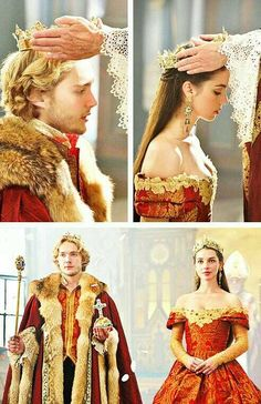 Reign featuring Toby Regbo & Adelaide Kane as King Francis of France and Queen Mary of Scotland.CW's Reign featuring Toby Regbo & Adelaide Kane as King Francis of France and Queen Mary of Scotland. Adelaide Kane, King Francis Of France, Reign Mary And Francis, Serie Reign, Marie Stuart, Reign Tv Show, Reign Dresses, Reign Fashion, Mary Queen Of Scots