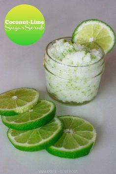Make your own coconut lime sugar scrub with ingredients you have on hand! This recipe takes less than 5 minutes to create. Make your own coconut lime sugar scrub with ingredients you have on hand! This recipe takes less than 5 minutes to create. Sugar Scrub Homemade, Sugar Scrub Recipe, Body Scrub Recipe, Diy Body Scrub, Diy Scrub, Hand Scrub, Homemade Beauty, Diy Beauty, Beauty Care