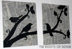 The Roots of Design: DIY Newspaper Art  Different silhouette?