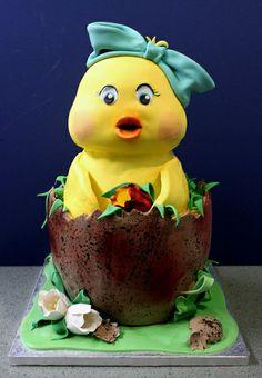 Newborn Chick Cake
