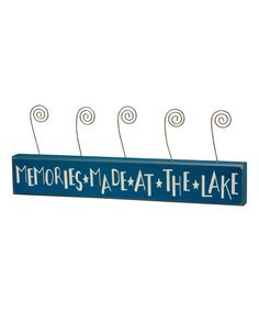Another great find on #zulily! 'At the Lake' Five-Photo Block #zulilyfinds