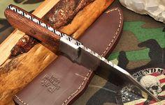 CFK Ipak USA Custom Handmade D2 Tool Steel Leopard Wood Hunter Skinner Knife 2nd | eBay