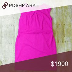🎈2x HP🎉 Fuschia fitted knit dress Beautiful knit dress in excellent condition. Back zip and vent.  Fabric content 76% polyester 20% rayon 4% spandex  Approx. Measurements in inches Bust 43 Waist 41 Hip 48 Length 39  No trades. Merona Dresses