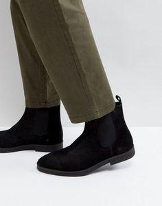 Черные замшевые ботинки челси Zign