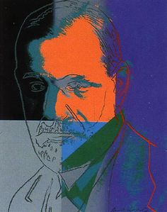 """Andy Warhol  """"Sigmund Freud (Jews of the 20th Century Suite) II.""""  Limited Edition Print  Serigraph on Lenox Museum Board  40 x 32 in / 102 x 81 cm"""