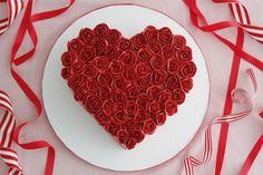 rose buttercream cak