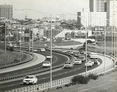 How was the trip home tonight? Tullamarine Freeway, Photographer: James O Nicholls. End of the Freeway looking towards North Melbourne and Flemington. State Library of Victoria Image Places In Melbourne, Melbourne Suburbs, Melbourne Victoria, Victoria Australia, Australian People, Terra Australis, Australian Continent, Beautiful Park, Historical Pictures