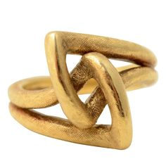 Cartier Gold Knot Ring | From a unique collection of vintage fashion rings at http://www.1stdibs.com/jewelry/rings/fashion-rings/