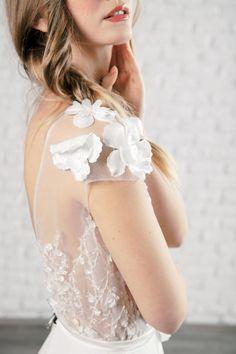 Rochie Nadine - Oana Nutu Blue Bridal, Bridal Style, Modern Fashion, Fashion Design, Fashion Trends, Embroidered Silk, Designer Collection, Ruffles, Blues