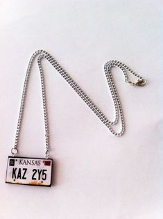 Supernatural Impala License Necklace by LoveForAchilles on Etsy, $13.95