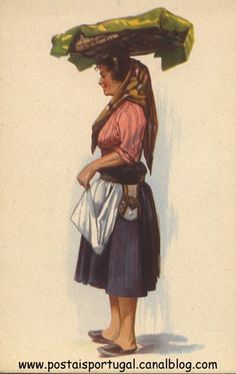 Lisboa : Varina Folk Costume, Costumes, Vintage Travel Posters, Portuguese, Illustrations Posters, Pub, Traditional, Vintage Pins, Algarve