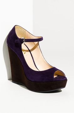 OMG, If I only had $750 worth of disposable income. Prada Suede Platform Wedge