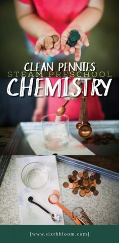 SCIENCE for Preschoolers - Cleaning Pennies, How to Clean Pennies, Penny cleaning with preschoolers, Simple Science Activities for Preschoolers, #scienceforkids  #scienceexperiments  #scienceproject  #steam #stem #stemkids #steamkids #preschool #preschoolscience #preschoolers #preschoollife #money #cleanmoney