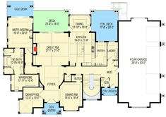 With over square feet and five bedrooms, this exciting Craftsman house plan was . House Layout Plans, Craftsman Style House Plans, House Layouts, Best House Plans, Dream House Plans, House Floor Plans, Mountain House Plans, Mountain Homes, Floor Sitting