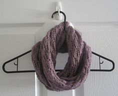 Knit Lace // Infinity Scarf // With a Twist // by itsCOWLdoutside, $37.00