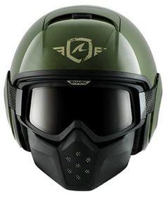 Shark Raw Trinity Helmet - Green/Silver