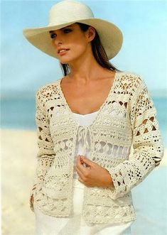 Crochet Cardigan Long Sleeve W