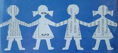 Girotondo di bambini ritagliato nella carta / a